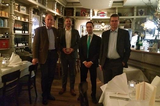 DFG-Team im Diekmann Restaurant